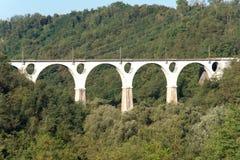 Bridge of five rings at Malnate, Varese. Stock Photos