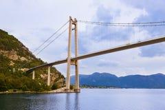 Bridge in fjord Lysefjord - Norway Royalty Free Stock Image