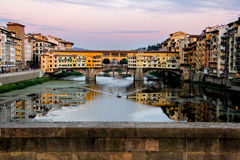 A Bridge in Florence, Italy Stock Image