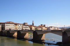 Bridge in Florence. Modern bridge over the river Arno in Florence stock image