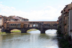 Bridge in Florence. Old vending bridge over the Arno river in Florence royalty free stock photos