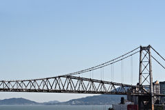 Bridge in Florianopolis royalty free stock images