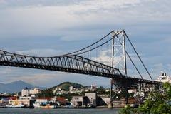 Bridge in Florianopolis. Bridge Hercilio Luz in Florianopolis-SC Brazil Stock Photos