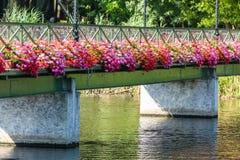 Bridge with flowers Royalty Free Stock Photo