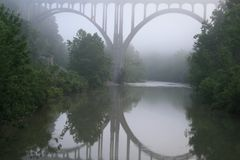 Bridge In Fog Royalty Free Stock Image