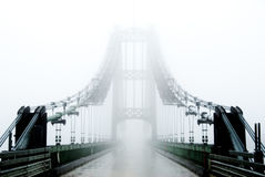 Bridge in fog Stock Photos