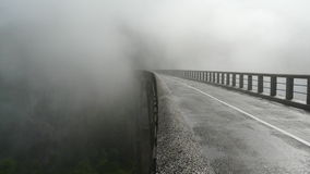 Bridge in fog Royalty Free Stock Photo