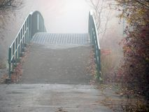 Bridge in fog Royalty Free Stock Images