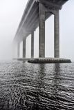 Bridge in Fog Stock Photo