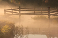 Bridge in the fog Royalty Free Stock Images