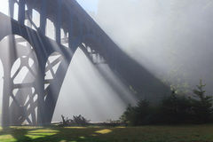 Bridge in fog Stock Photos