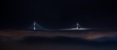 Bridge in the fog. Stock Photo