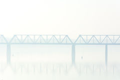 Bridge in the fog Royalty Free Stock Image