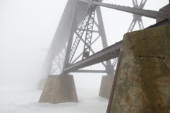 Bridge in the Fog Royalty Free Stock Photography
