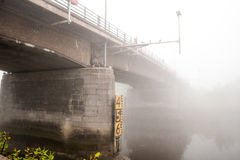Bridge fog Royalty Free Stock Photos