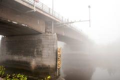 Bridge fog Royalty Free Stock Photos