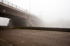 Bridge fog Royalty Free Stock Images