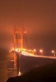 bridge fogged gate golden Στοκ εικόνα με δικαίωμα ελεύθερης χρήσης