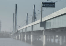 Bridge foggy day Royalty Free Stock Photography