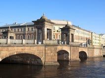 Bridge on the Fontanka River, St. Petersburg, Russia Royalty Free Stock Photography