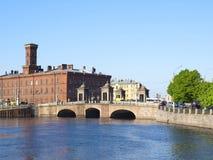 Bridge on the Fontanka River, St. Petersburg, Russia Royalty Free Stock Image