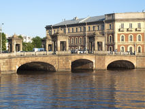 Bridge on the Fontanka River, St. Petersburg, Russia Royalty Free Stock Photos