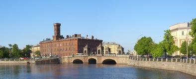 Bridge on the Fontanka River, St. Petersburg, Russia Royalty Free Stock Photo