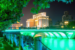 bridge and footpath at night Stock Photos