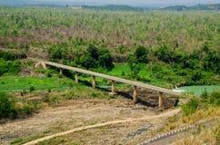 Bridge in forest. In Daklak, Viet Nam Stock Photo