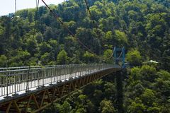 Bridge in forest Lushan China Royalty Free Stock Images