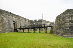 The bridge of the Fort Castillo de San Marcos Stock Photography