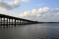 Bridge in Fort Myers, FL. Bridge over the Caloosahatchee River in Fort Myers, FL Royalty Free Stock Photos