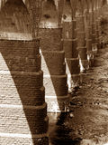 Bridge Foundation. The foundation columns of an old bridge in India Stock Image