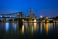 Bridge in Frankfurt, Germany Stock Photo