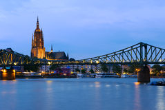 Bridge in Frankfurt, Germany Stock Image