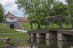 Bridge in Fredrikstad Stock Photography