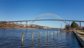 Bridge in Fredrikstad, Norway. Bridge between the Old and New Town in Fredrikstad, Norway royalty free stock images
