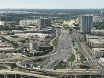 Texas Freeway. Bridge Freeway from Reunion Tower Royalty Free Stock Photos