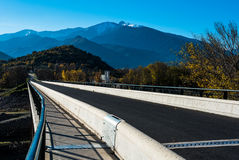 Bridge in the French Pyrenees Stock Images