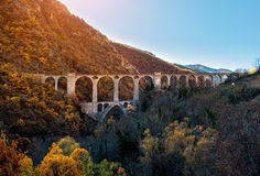 Bridge in the French Pyrenees Stock Photo