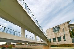 Bridge in front of the german Chancellery Stock Image