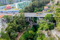 Bridge. The bridge in Funchal over a deep ravine. Island Madeira stock images