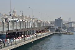 bridge galataen Royaltyfri Foto