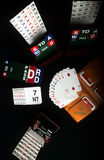 Bridge is the game. Playing cards for playing bridge Royalty Free Stock Photos