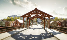 Bridge Gamle Bybro in Trondheim. Norway Stock Photography