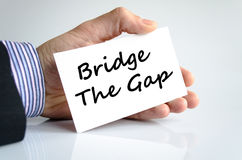 Bridge the gap text concept Stock Photo