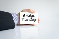 Bridge the gap text concept Stock Photos