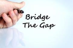 Bridge the gap text concept Stock Image