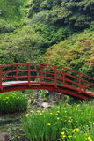 Bridge in garden Royalty Free Stock Images