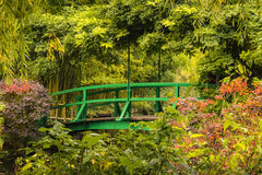 Bridge in garden in Giverny, France Stock Photos